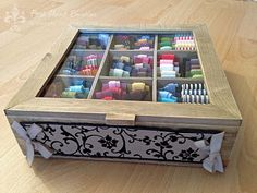 Could use a tea box like this from dollarama to store washi tape or other little odds and ends!