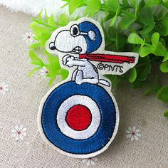 Snoopy iron on applique Flight Patch E094 by happysupply on Etsy, $3.10