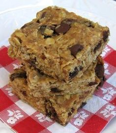 Peanut Butter-Oatmeal Granola Bars = Gluten Free, Lactose Free, Soy Free. High Fiber.
