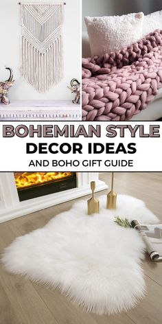 Do you know someone who loves all things boho? Today on the blog we have the best bohemian decor gift ideas that won't break the bank. Budget friendly and stylish bohemian decor gift ideas for the living room, bedroom, and the rest of the house. Boho Style Decor, Bohemian Decor, Bohemian Style, Hippy Room, Hippie Room Decor, Faux Sheepskin Rug, Moon Decor, Brown Couch, Papasan Chair
