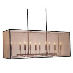 @Overstock.com.com - Sheer Rectangular Cocoa Chandelier - Sheer rectangular chandelier features a cocoa-colored hardback shadeLighting fixture is sure to accent any room in your homeChandelier is suspended by two poles  http://www.overstock.com/Home-Garden/Sheer-Rectangular-Cocoa-Chandelier/3488812/product.html?CID=214117 $239.99
