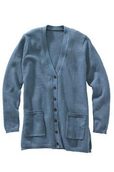Edwards Garment long v-neck cardigan