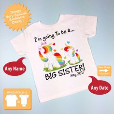 Personalized I'm Going to Be A Big Sister by ThingsVerySpecial