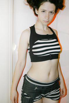 AUXILIARY Harness Vest - Sci Fi Fashion - Futuristic - Health Goth - Minimalist Excessory / Accessory - Cotton Lycra
