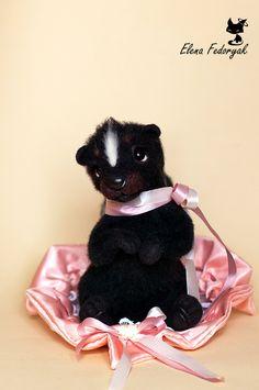 Toy animals, handmade.  Fair Masters - handmade rosette girl.  Handmade.