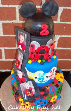 My Creative Way: Amazing Mickey Mouse 3 Tier Fondant Cake. Oh Toodles Cake. Mickey Mouse Clubhouse Cake
