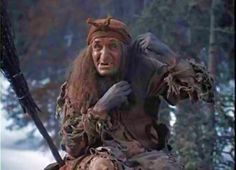 Baba Yaga. As depicted in a Russian movie.