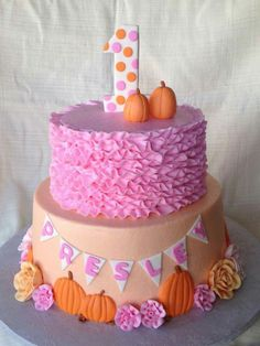 Little Pumpkin Party pumpkin cake pink rufflesPink (disambiguation) Pink is a pale red color. Pink, Pinks, or Pink's may also refer to: Pumpkin Birthday Cakes, Fall Birthday Cakes, Pumpkin Patch Birthday, Pumpkin Patch Party, Pumpkin Birthday Parties, Pumpkin First Birthday, First Birthday Parties, Birthday Ideas, 2nd Birthday