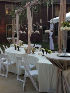 So pretty...outside patio rehearsal dinner