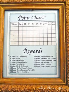 chore chart with points to earn rewards Chore Rewards, Behavior Rewards, Kids Rewards, Kids Behavior, Home Behavior Charts, Behaviour Chart, Discipline Charts, Chore Chart Kids, Chore Charts