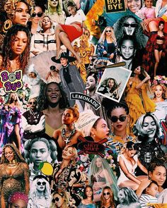collage haos isn t it Cartoon Wallpaper Iphone, Aesthetic Iphone Wallpaper, Wallpaper Backgrounds, Aesthetic Wallpapers, Dope Wallpapers, Celebrity Wallpapers, Beyonce Background, Collage Background, Mode Poster