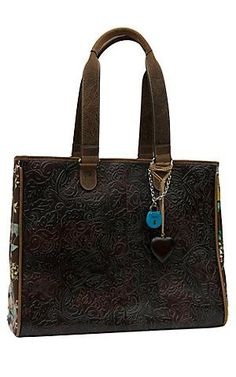 Consuela® Couture Tuscany Tooled with Floral Print Grande Tote. beautiful  bags 62ac6937f2034