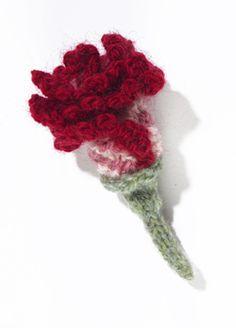 Knit Flower: Clove Carnation