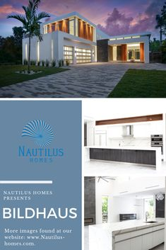 Bauhaus style build in downtown Sarasota, FL by Nautilus Homes. Builder: Nautilus Homes Architect: DSDG Architects Photography: Arianna J. Bauhaus Style, Longboat Key, Custom Fonts, Architect House, Waterfront Homes, Nautilus, Home Projects, Light Colors, Granite
