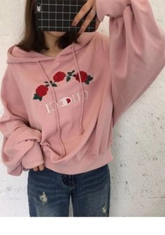 jacket girly pink hoodie sweater tumblr embroidered gucci champion hoodie trendy