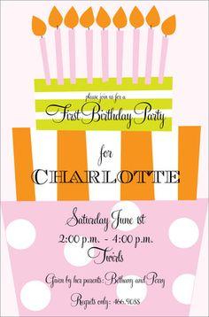 Fun Day Girl Birthday Invitations