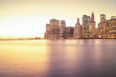 New York City Skyline at Sunset - Lower Manhattan Skyscrapers by Vivienne Gucwa, via Flickr