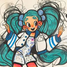 """5,560 Likes, 55 Comments - Angel's Secret Art Service (@angelmiico) on Instagram: """"KINDA FAILED BUT AYE IT WAS FUN, HERE'S SOME SPACE LOWKEY MIKU INSPIRED CHIC YEAH ⭐️⭐️⭐️✨✨✨…"""""""
