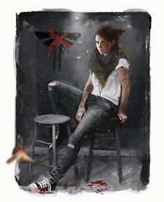 """My brother and I played The Last of Us together when it first came out a few years ago. I completely fell in love. The characters, the story, the music. It truly is a masterpiece. This is my fanart of beautiful Ellie from The Last of Us Part II."" - Johanna Kallin"