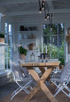Porch Garden, Garden Cottage, Home And Garden, Patio, Outdoor Rooms, Outdoor Living, Outdoor Furniture Sets, Outdoor Decor, Backyard Sheds
