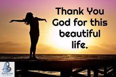 #ThankYouGod for this beautiful life. #shelteringgrace Peaceful Heart, Peaceful Life, Positive Mindset, Positive Vibes, Christian Pictures, Thank You God, I Am The One, Yoga Meditation, Good Vibes