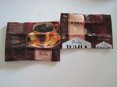 kahvipussi askartelua Candy Wrappers, Origami, Bag, Mocha, Candy Cards, Purse, Origami Paper, Bags, Origami Art