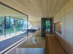 Completed in 2016 in Bregenz, Austria. Images by Bruno Klomfar . Located on a mountain overlooking Bregenz, Haus D′s open floorplans and generous glazing allow for magnificent views over the surrounding countryside. Built In Cupboards, Interior Architecture, Interior Design, Architect House, Open Plan Living, Beautiful Homes, Kitchen Design, House Plans, New Homes
