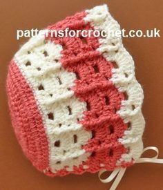 Free baby crochet pattern bonnet usa