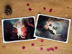 Láminas de Gatos Espaciales de TatyMiau en Etsy
