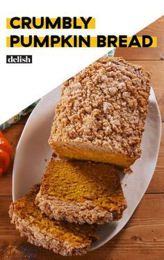 Meet Your New Favorite Pumpkin Bread Delish Gourmet Recipes, Baking Recipes, Dessert Recipes, Bread Recipes, Dinner Recipes, Breakfast Recipes, Fall Desserts, Delicious Desserts, Yummy Food