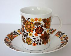 1960s Elizabethan 'Carnaby' Bone China Cup by janestangerinehouse, £10.00