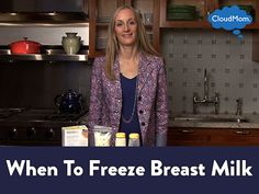 Wondering when to freeze breast milk? Here's a helpful video on all you need to know on breast milk storage! Pumping And Breastfeeding Schedule, Breastfeeding And Bottle Feeding, Breastfeeding Classes, Breastfeeding Positions, Breastfeeding Baby, Freezing Breastmilk, Breastmilk Storage, Tire Lait, Advice For New Moms