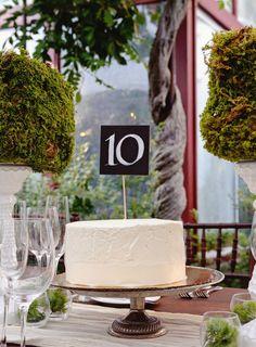Cake as center pieces?!?!    10 Nonfloral Centerpiece Ideas | TheKnot.com