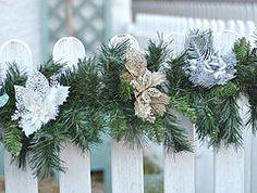 Bringing Christmas outside. Christmas exterior ideas by Torie Jayne Christmas Wreaths, Christmas Cards, Merry Christmas, Christmas Inspiration, Tis The Season, Tree Decorations, Vintage Christmas, Garland, Vintage Inspired