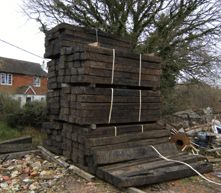 Reclamation yard in Sussex, Authentic Reclamation 01580 201258 for all reclamation and architectural salvage for Sussex, Kent, Surrey and throughout the UK Oak Sleepers, Railway Sleepers, Reclamation Yard, Architectural Salvage, Surrey, Firewood, Architecture, Planting, Building