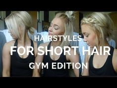 12 EASY HAIRSTYLES FOR SHORT HAIR ♡ - YouTube - Tap the pin if you love super heroes too! Cause guess what? you will LOVE these super hero fitness shirts!