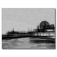 White Noise Santa Monica Pier Post Card #postcrossing