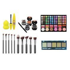Complete makeup kit brushes, mask, beauty blender, concealer, 78 color Line Original shades - cute - Beauty Beauty Blender, Cute Beauty, Color Lines, Makeup Kit, Concealer, Eyeshadow, Shades, The Originals, Brushes