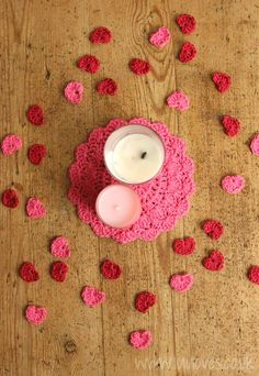Cutest heart confetti ever! #Crochet your own little hearts to throw around the room and have a special day.