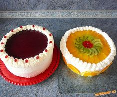 OVOCNÝ DORT s jovokrémem postup | Mimibazar.cz Cheesecake, Food, Cheese Cakes, Meals, Cheesecakes, Yemek, Eten