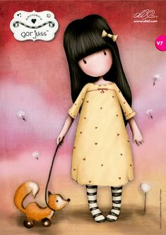 Painting & Co - Suzanne Woolcott - Gorjuss Cute Images, Cute Pictures, Cute Girls, Little Girls, Santoro London, Arte Country, Doll Painting, Holly Hobbie, Shell Crafts