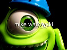 This is Mike, from one of the greatest movies of all-time . Monsters, Inc. Part of my project: 1 photo per day for 365 days. Monsters Inc, Disney Monsters, Old Disney, Disney Love, Disney Pixar, Mike And Sulley, Mike Wazowski, Sully, Just Girl Things