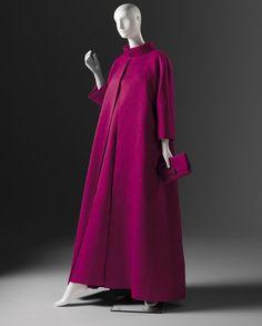 Evening coat and dress with Silk Cloque Hubert de Givenchy 1960's Phoenix Art Museum