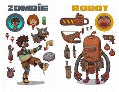 Zombies vs Robots by Nerd-Scribbles on DeviantArt