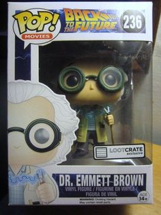 DR EMMETT BROWN Back to the Future BTTF Loot Crate Exclusive 236 POP Movies NIB #backtothefuture #BTTFfans