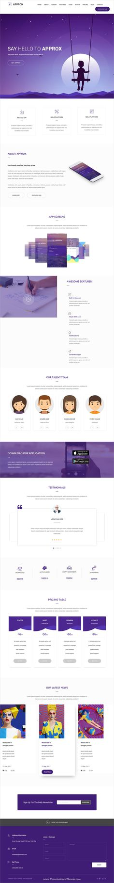 Approx is clean and modern design 2in1 responsive #bootstrap HTML #template for creative #agency landing page website to live preview & download click on Visit