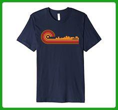 Mens Retro Style Lubbock Texas Skyline T-Shirt Large Navy - Retro shirts (*Amazon Partner-Link)