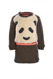 Flo Baby girls sweat panda dress