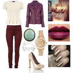 """Oxblood..."" by threadinducedeuphoria on Polyvore"