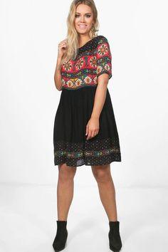 Plus Matilda Retro Print Midi Dress Bodycon Fashion a9b045087